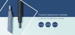 $ 12 med kupong för 90FUN Vattentät regnigt soligt paraply från Xiaomi Youpin - BLACK från Gearbest