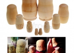 DIY Blank Wooden Embryos Russian Nesting Dolls-Only US$5.90 and Coupon:doll6 from Newfrog.com