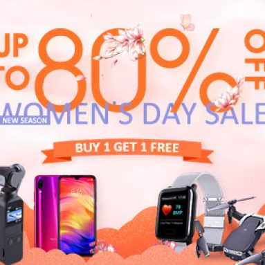 Up to 80% OFF Women's Day Sale for All Products from BANGGOOD TECHNOLOGY CO., LIMITED