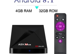$43 with coupon for A5X MAX Android 8.1 TV Box 4GB RAM + 32GB ROM- BLACK EU PLUG EU warehouse from GearBest