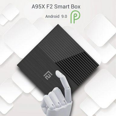 € 40 với phiếu giảm giá cho A95X F2 Smart TV Box Android 9.0 - RAM 4GB màu đen + ROM 32GB EU Plug & 2.4G + 5.8G WIFi từ GEARBEST
