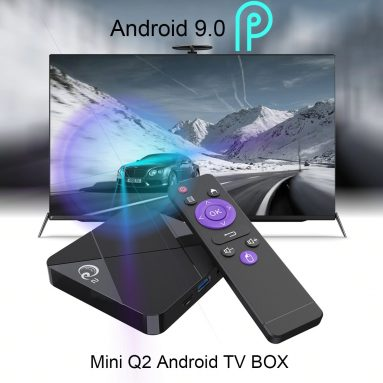 €27 with coupon for A95X MINI Q2 Android 9.0 Smart 4K TV Box – Black 4GB RAM+32GB ROM EU Plug from GEARBEST
