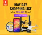 Max 70% OFF May Day's Sale for All Products from BANGGOOD TECHNOLOGY CO., LIMITED