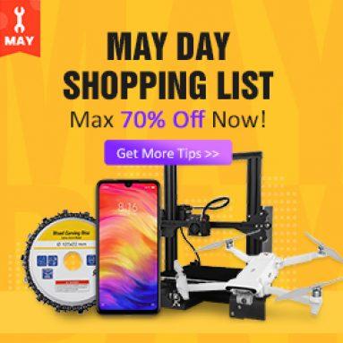 Max 70% 1 İndirim BANGGOOD TECHNOLOGY CO., LIMITED'den Tüm Ürünler için Mayıs Günü Satışı