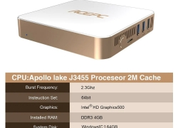 $146 with coupon for ACEPC AK7 Mini PC – GOLD from Gearbest