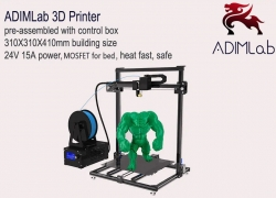 $229 with coupon for ADIMLab – gantry 3D Printer I3 Plus 310 x 310 x 410 – BLACK US PLUG from GearBest