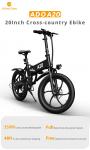 620 € s kuponom za ADO A20 350W 36V 10.4Ah 20-inčni električni bicikl 25km / h Maksimalna brzina 80Km Kilometraža 120Kg Max. Opterećenje Veliki okvir Release Max Speed električni bicikl iz skladišta EU CZ BANGGOOD