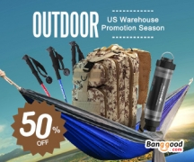 50% OFF Outdoor Products Promotion in US Warehouse from BANGGOOD TECHNOLOGY CO., LIMITED
