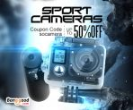 Up to 50% OFF for Sports Camera with Extra 10% OFF Coupon from BANGGOOD TECHNOLOGY CO., LIMITED