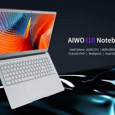 $429 with coupon for AIWO I10 Notebook 15.6 inch Full Metal Laptop Windows 10 Intel Celeron J4105 2.5GHz 8G RAM 512GB SSD 0.3MP Camera – Silver 8+512GB from GEARBEST