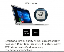 $198 with coupon for AIWO i4 Laptop 4GB RAM 128GB SSD – Gray Regular from GearBest