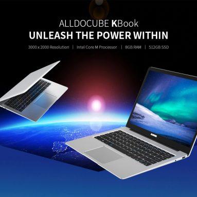 ALLDOCUBE Kbook लैपटॉप के लिए कूपन के साथ € 360 180- डिग्री 13.5 इंच 3K IPS प्रदर्शन इंटेल ग्राफिक्स 515 8G DDR3 RAM 512GB SSD नोटबुक BANGGOOD से