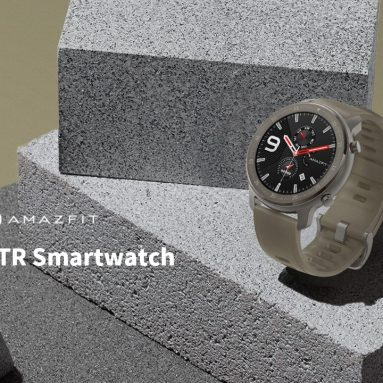 €161 with coupon for AMAZFIT GTR 47mm Smart Watch Titanium Edition 24 Days Battery Life 5ATM Waterproof GPS GLONASS 12 Sports Modes 326ppi AMOLED Screen Global Version (Xiaomi Ecosystem Product) – Light Khaki from GEARBEST