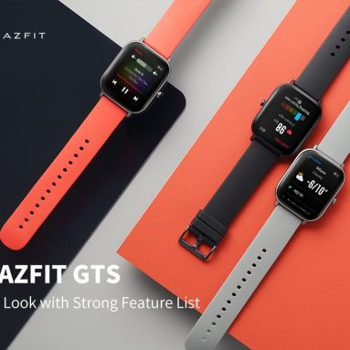€102 with coupon for Amazfit GTS 341 PPI AMOLED Screen BT5.0 Wristband GPS+GLONASS Light Weight 5ATM Waterproof Smart Watch from xiaomi Eco-System from BANGGOOD