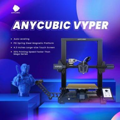 381 € z kuponem na zestaw drukarki 3D ANYCUBIC Vyper 245x245x260mm Wydruk z magazynu EU GER TOMTOP