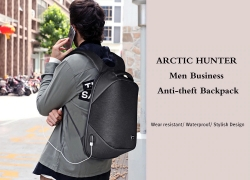 $24 with coupon for ARCTIC HUNTER Business Anti-theft Backpack – BLACK from GearBest