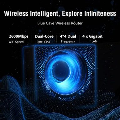 €138 with coupon for ASUS Blue Cave AC2600M Dual Band Wireless Intelligent Router from GEARVITA