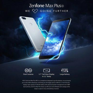 $ 88 với phiếu giảm giá cho ASUS ZenFone Max Plus (M1) Phiên bản toàn cầu của 4G Phablet - BLACK từ GearBest