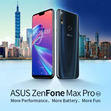 $264 with coupon for ASUS ZenFone Max Pro ( M2 ) ( ZB631KL ) 4G Phablet Global Version – Deep Blue from GEARBEST