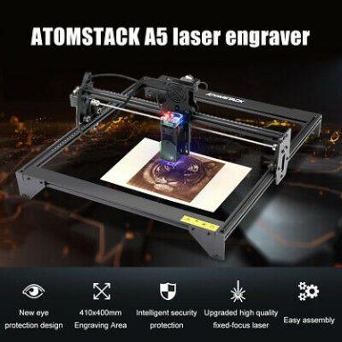 159 евро с купоном на лазерный гравер ATOMSTACK A5 20 Вт со склада TOMTOP в ЕС GER