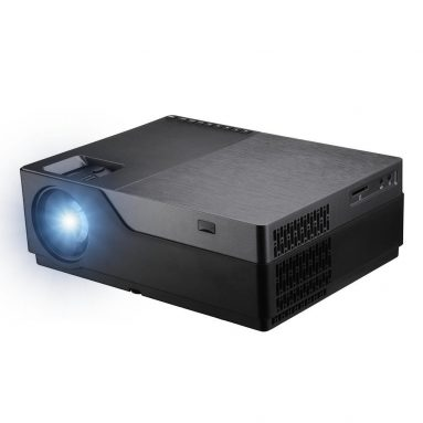 AUN M168 पूर्ण HD प्रोजेक्टर के लिए कूपन के साथ € 18 5500 Lumens 1920 × 1080 BANGGOOD से AC3 होम थियेटर का समर्थन