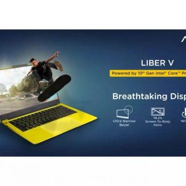 """€ 781 עם קופון למחשב נייד AVITA LIBER V 14 אינץ 'i5-10210U / 8GB DDR4 זיכרון / SSD בנפח 512GB עם 3.7 מ""""מ נעילת טביעות אצבע בעלות צרה במיוחד, נעילת תקע האיחוד האירופי השחור מ- TOMTOP"""