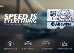 $3 with coupon for Alfawise 32GB Micro SD Class 10 UHS-1 Memory Card – LIGHT BLUE from GearBest