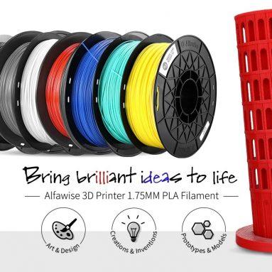 € AlfaNwise 8D Yazıcı için kuponlu 3 1.75MM PLA Filament - GEARBEST'dan siyah