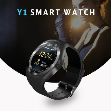 $6 with coupon for Alfawise 696 Y1 Bluetooth Smartwatch Phone – BLACK from GearBest