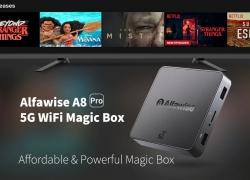 € 15 sa kupon para sa Alfawise A8 Pro 5G Wifi Magic TV Box - BLACK EU PLUG mula sa GearBest