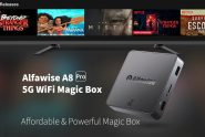 €23 with coupon for Alfawise A8 Pro 5G Wifi Magic TV Box – BLACK EU PLUG from GearBest