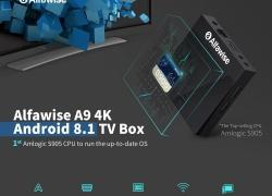 $ 29 med kupon til Alfawise A9 4K Amlogic S905 Android 8.1 TV Box - Sort US Plug (2-PIN) fra GEARBEST