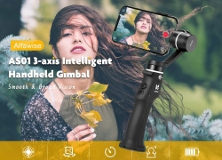 €54 with coupon for Alfawise AS01 3-axis Intelligent Handheld Gimbal from GearBest