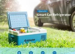 € Alfaron B169 için kuponlu 15 15L Akıllı Taşınabilir Araç Dondurucu / Buzdolabı - Blue Koi US Plug (2-pin) DİŞLİ