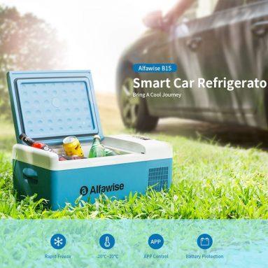 € 168 với phiếu giảm giá cho Tủ lạnh / Tủ lạnh di động thông minh Alfawise B15 15L