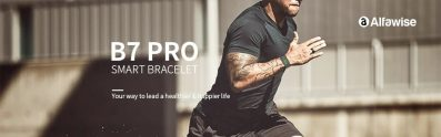 $17 with coupon for Alfawise B7 Pro Fitness Tracker with 7/24h Real-time Heart Rate Monitor – BLACK from GearBest