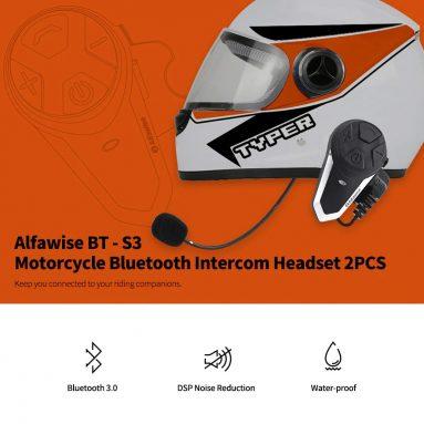 Alfawise BT - S29 오토바이 블루투스 인터콤 헤드셋 GearBest에서 쿠폰을 구입 한 $ 3