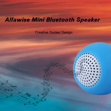 $5 with coupon for Alfawise Creative Sucker Design Mini Bluetooth Speaker from GearBest