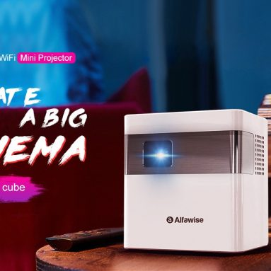 Alfawise D189 2 Lumens Smart Projector Mini Sizeサポートのクーポン付き€3000 GEARBESTのWiFi EUプラグ