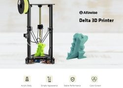 $179 with coupon for Alfawise Delta 3D Printer 180 x 180 x 320mm with Screen – Black EU Plug from GEARBEST