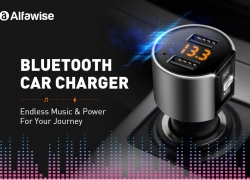 $8 with coupon for Alfawise Dual USB Ports Car Charger from GearBest