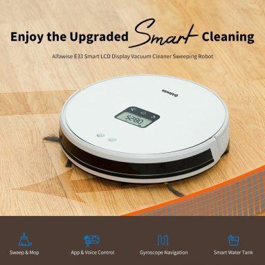 $ 199 dengan kupon untuk Alfawise E33 Cerdas LCD Display Vacuum Cleaner Robot Menyapu dari GEARBEST