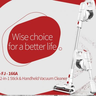 $65 with coupon for Alfawise FJ166A Cordless Stick Vacuum Cleaner EU warehouse from GearBest