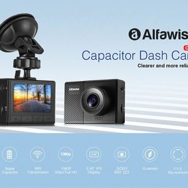 €35 with coupon for Alfawise G70 F1.5 Car DVR Dash Cam from GearBest