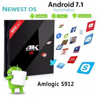 $ 41 avec coupon pour Alfawise H96 Pro + Boîte TV - 3GB RAM + 32GB ROM UE PLUG de GearBest