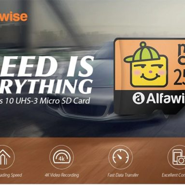 €31 with coupon for Alfawise High Speed High Capacity Waterproof Micro SD Card – Multi 256G from GEARBEST