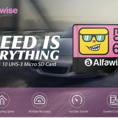 €7 with coupon for Alfawise High Speed High Capacity Waterproof Micro SD Card – Multi 64G from GEARBEST