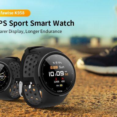 € 72 met coupon voor Alfawise K958 GPS Sport Smart Watch 50-meters Waterdicht 30 dagen batterijduur van GEARBEST