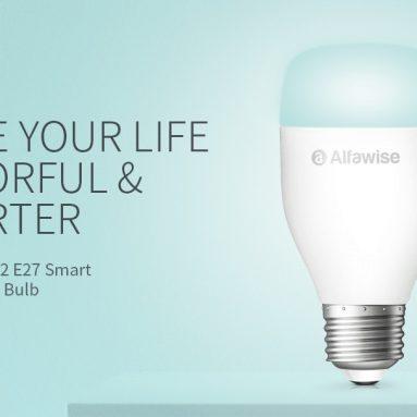€ 10 Alfawise LE12 E27 WiFi APP için kuponlu / Sesli / Uzaktan Kumandalı Akıllı LED Ampul GEARBEST