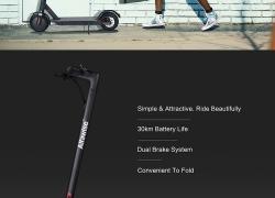 $ 327 कूपन के साथ अल्फावेक्स M1 तह इलेक्ट्रिक स्कूटर के लिए - ब्लैक 350W EU गोदाम से